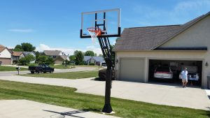 Ironclad Triple Threat Basketball Goal Installation